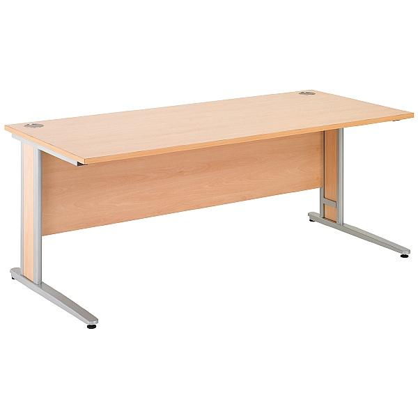 Gravity Deluxe Shallow Rectangular Cantilever Leg Desk