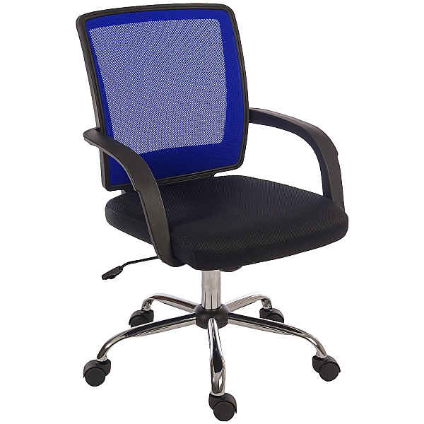 Twist Mesh Back Operator Chair Blue