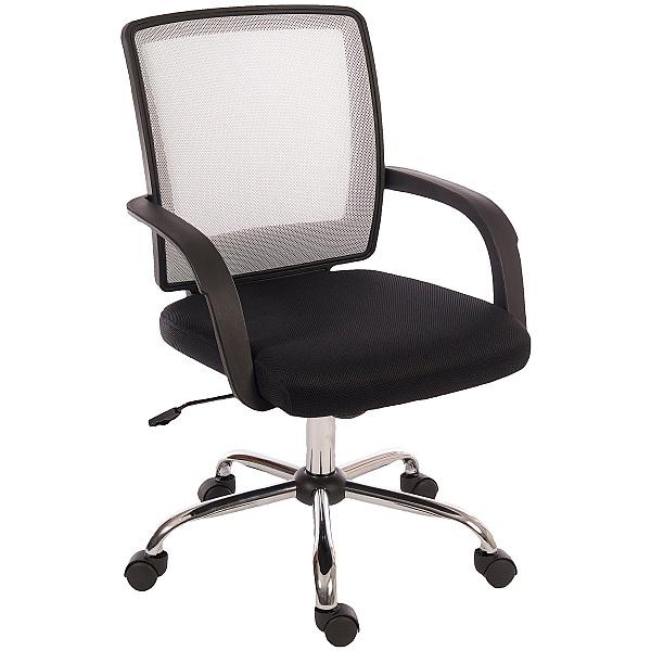Twist Mesh Back Operator Chair White