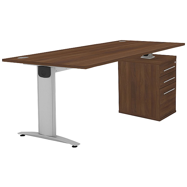 Protocol iBeam Rectangular Desk With High Pedestal