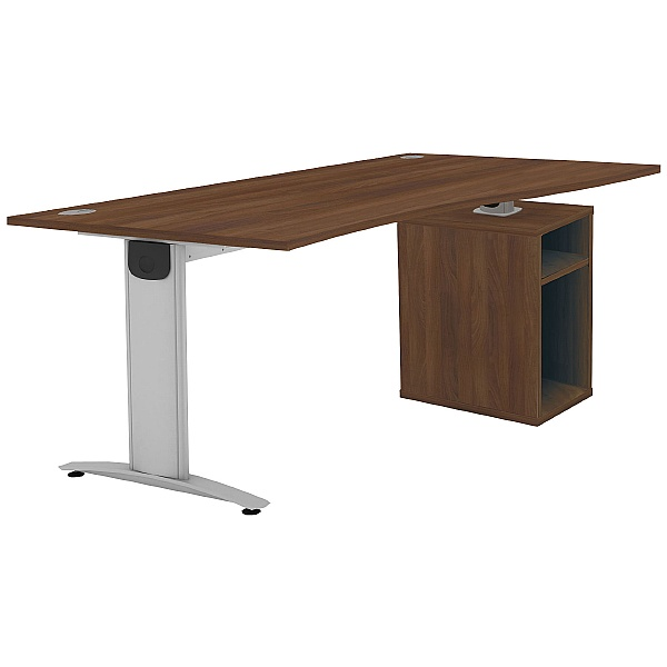 Protocol iBeam Wave Desk With Open Pedestal