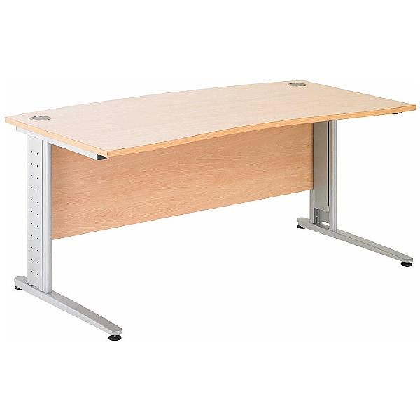 Gravity Plus Cantilever Double Wave Bow Desk