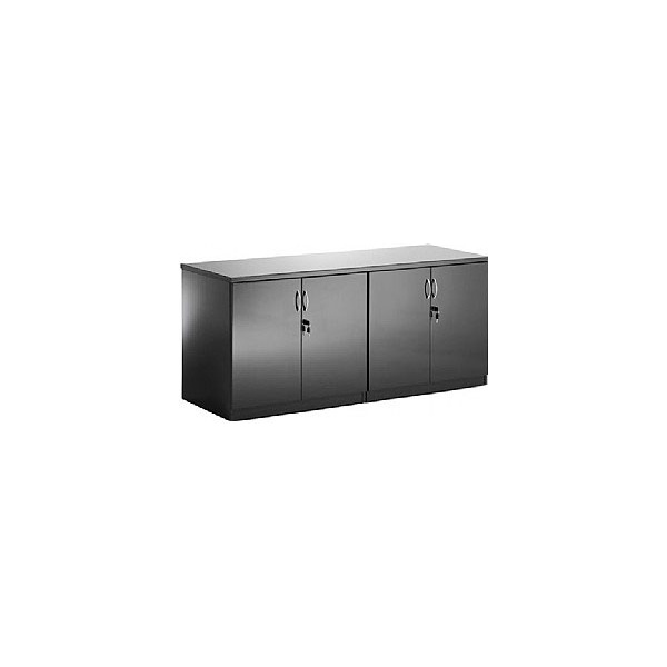 Black Lumina High Gloss Credenza Unit