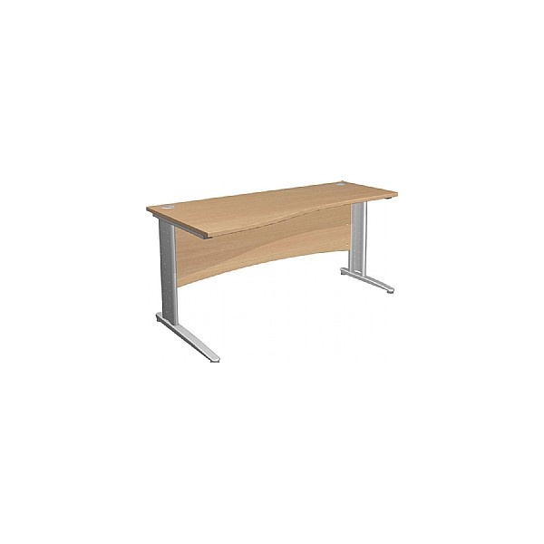 NEXT DAY Gravity Executive Shallow Wave Cantilever Desk