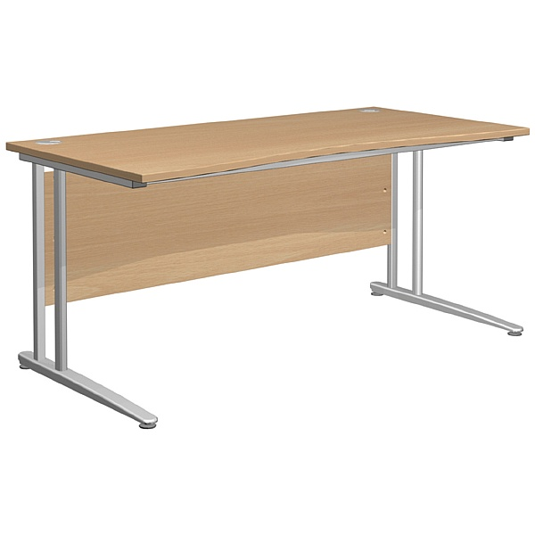 NEXT DAY Gravity Standard Double Wave Cantilever Desk