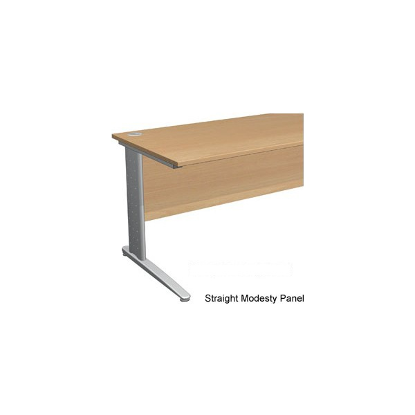 NEXT DAY Gravity Executive Shallow Rectangular Cantilever Leg Desk