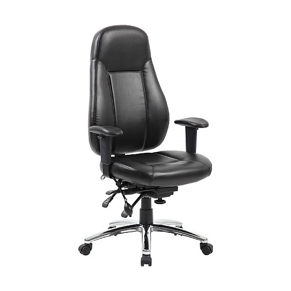 Beta 24 Hour Black Leather Task Chairs