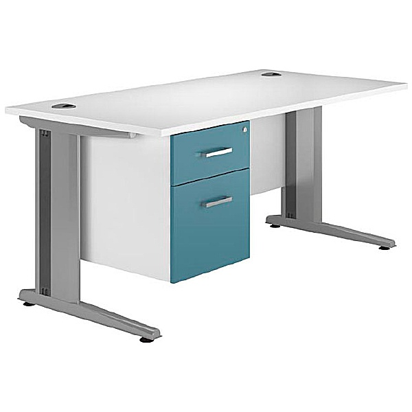 NEXT DAY Kaleidoscope Cantilever Deluxe Single Fixed Pedestal Desks