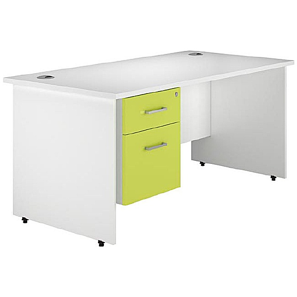 NEXT DAY Kaleidoscope Panel End Single Fixed Pedestal Desks