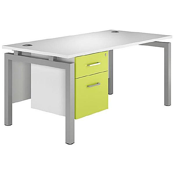 NEXT DAY Kaleidoscope Rectangular Bench Desks With Fixed Pedestal
