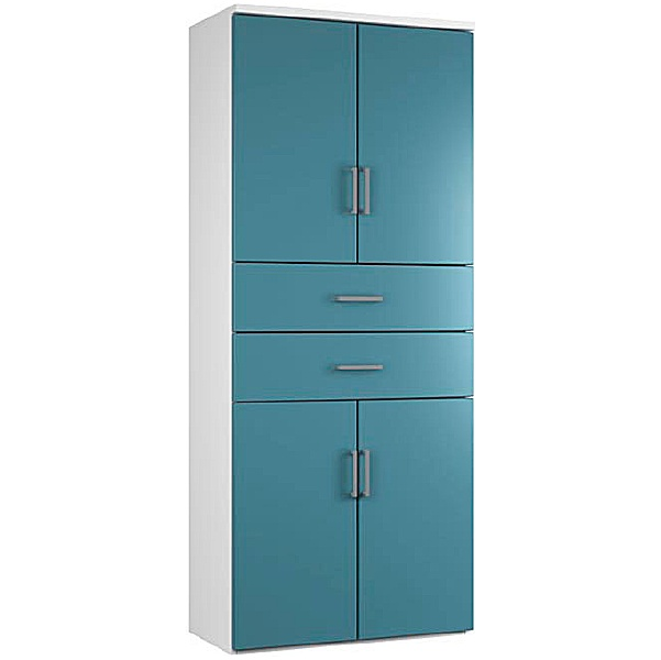 NEXT DAY Kaleidoscope Twin Double Door Combination Cupboards With Drawers