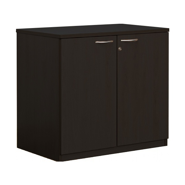 Next Day Eclipse Black Desk High Cupboards