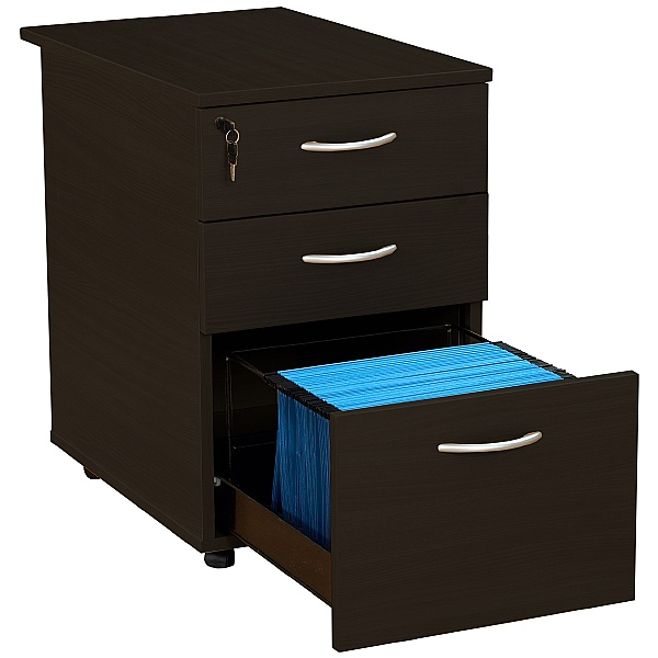 Next Day Eclipse Black Desk High Pedestals