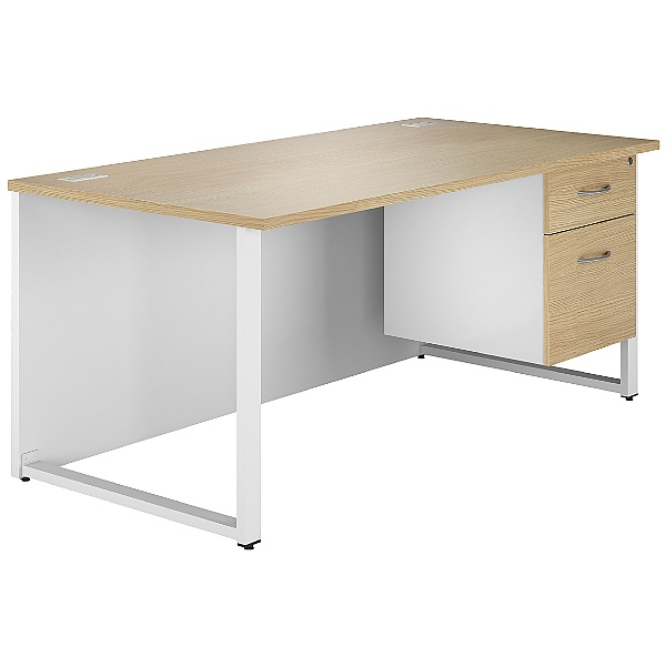 NEXT DAY Duo Single Pedestal Desk