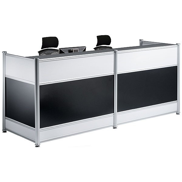 Black Lumina Gloss Reception Desk