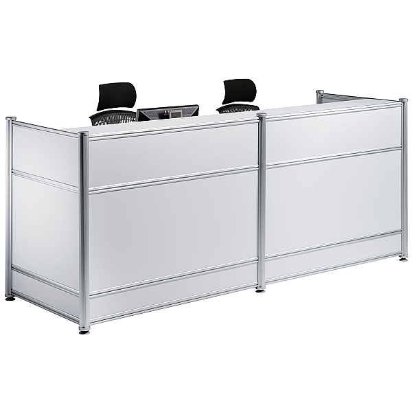 White Lumina Gloss Reception Desk