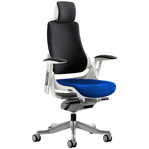 Jett Colours Two Tone Seat Task Chair With Headrest