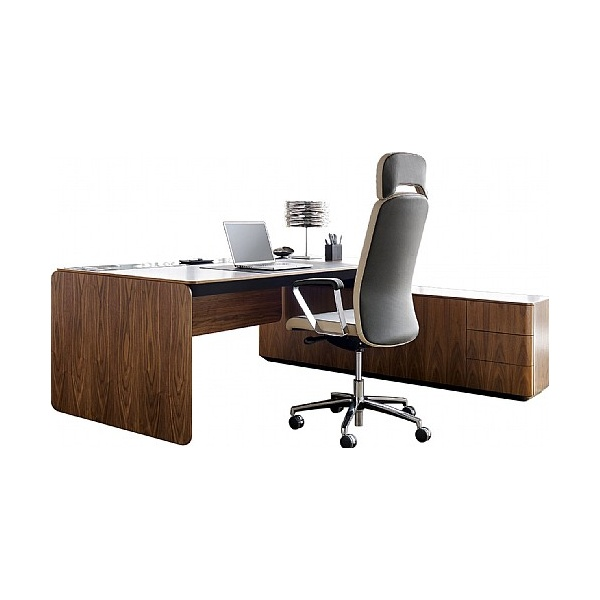 BN eRange Rectangular Managerial Desks With 1600mm Right Side Board