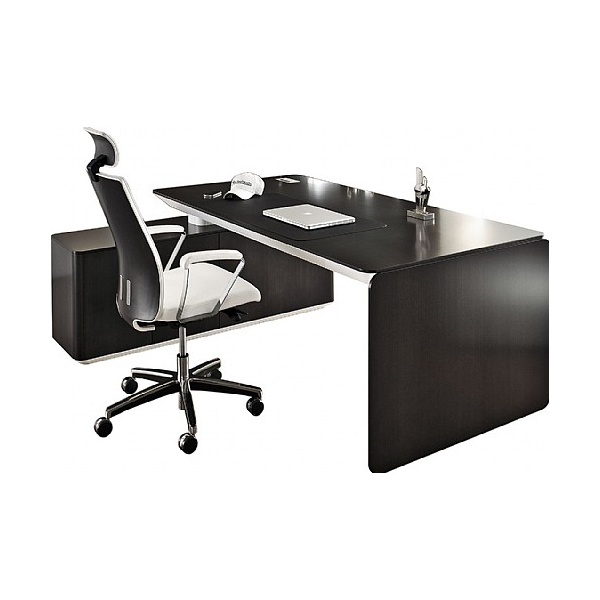 BN eRange Bow Fronted Managerial Desks With 1600mm Left Side Board