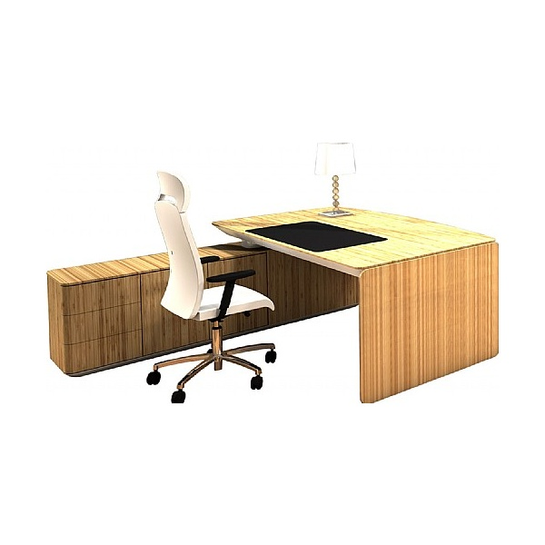 BN eRange Bow Fronted Managerial Desks With 2000mm Left Side Board