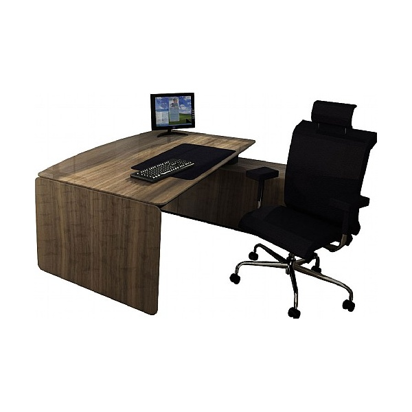 BN eRange Bow Fronted Managerial Desks With 2000mm Right Side Board