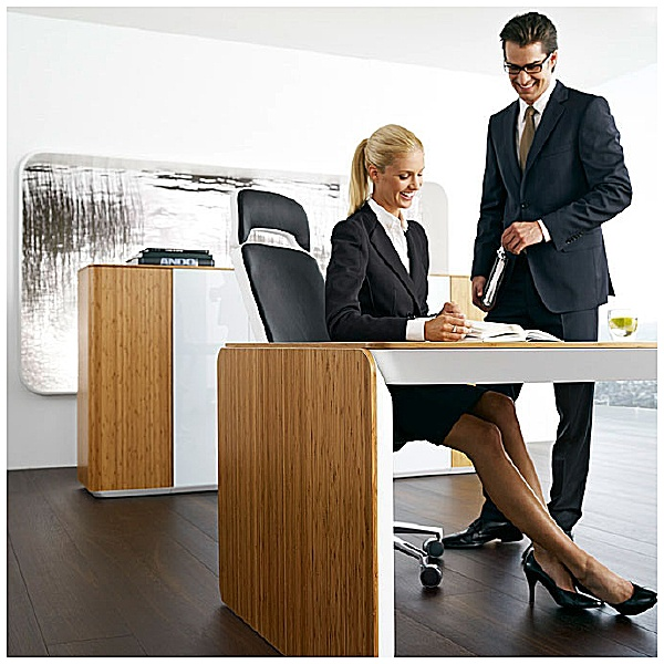 BN eRange Curved Managerial Desks
