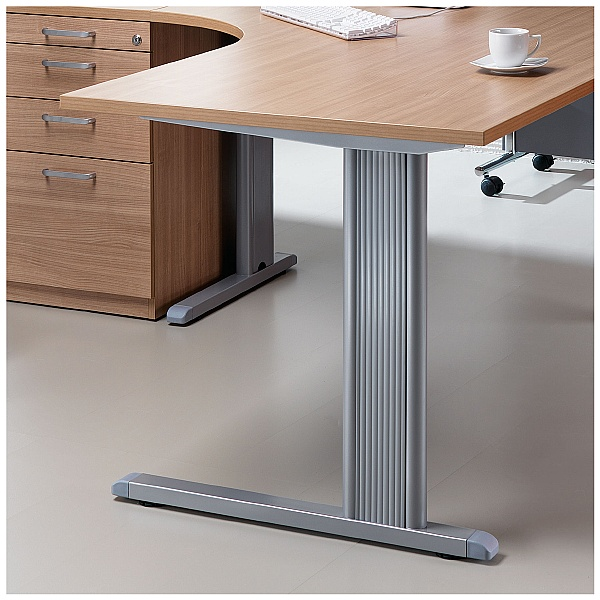 BN Easy Space Vertical Wire Trunking For Cantilever Desks With Modesty Panel