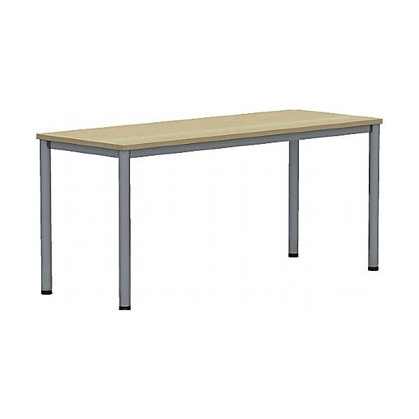BN Easy Space Height Adjustable Rectangular Desks - Round Legs