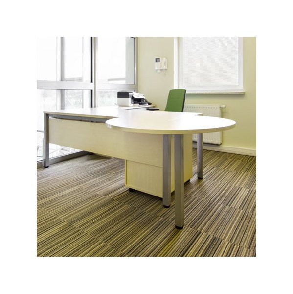 BN Easy Space Height Adjustable 3/4 Circle Desk Extensions - Square Leg