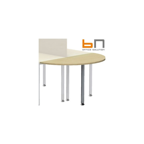 BN Easy Space Height Adjustable Semi Circular Desk Extension - Round Leg