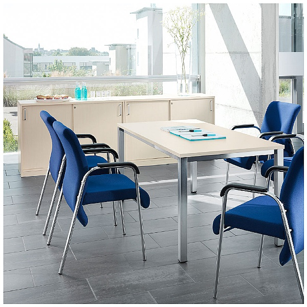 BN Easy Space Height Adjustable Rectangular Desks - Square Legs