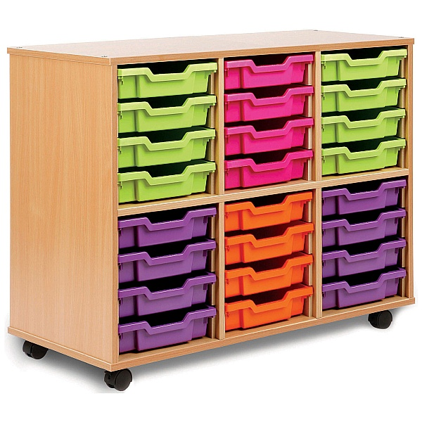 Storage Allsorts 24 Shallow Tray Unit