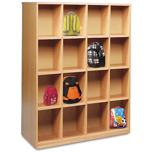 Cloakroom Storage With 16 Compartments