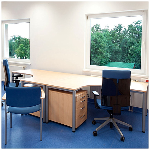 BN Easy Space Height Adjustable Ergonomic Desks - Round Leg