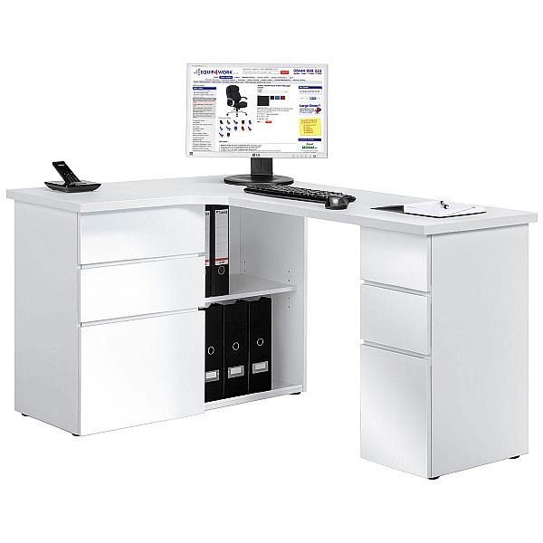 Radcliff Corner Computer Desk White