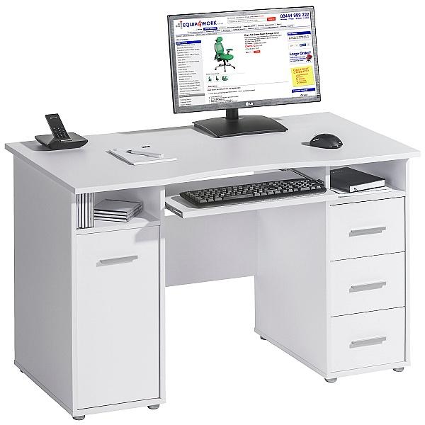 Hampstead Computer Desk White