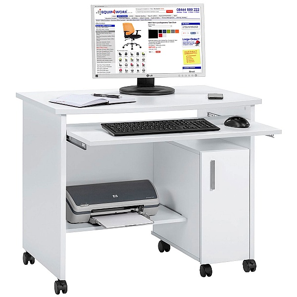 Kenley Computer Desk White