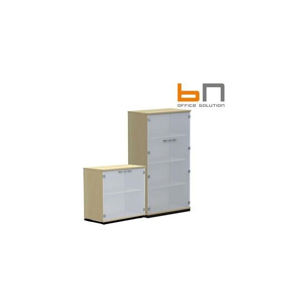 BN SQart Managerial Veneer Glass Door Cabinets