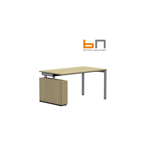 BN SQart Workstation Rectangular Desks With Low Organiser Tower