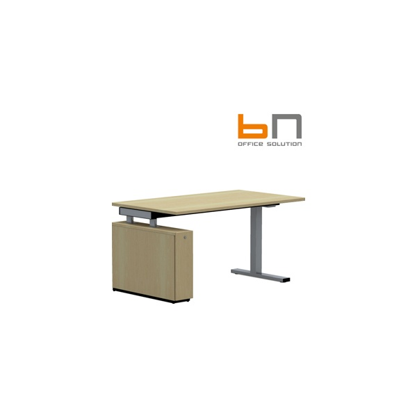 BN SQart Workstation C Leg Rectangular Desks With Low Organiser Tower