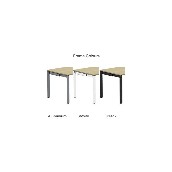 BN SQart Workstation C Leg Rectangular Desks With Desk High Organiser Tower