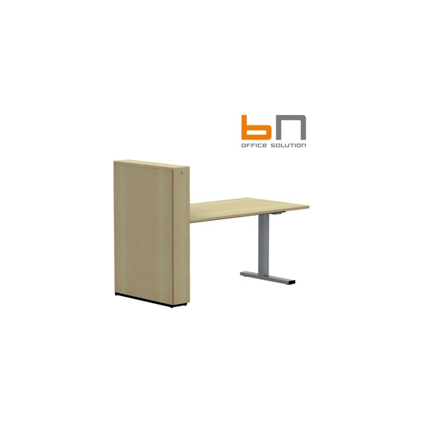 BN SQart Workstation C Leg Rectangular Desks With High Organiser Tower