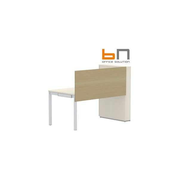 BN SQart Workstation Wooden Desktop Screens For Desks With High Organiser Towers