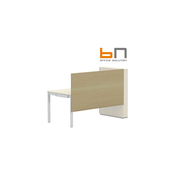 BN SQart Workstation One Piece Wooden Screen And Modesty Panel For Desks With High Organiser Towers