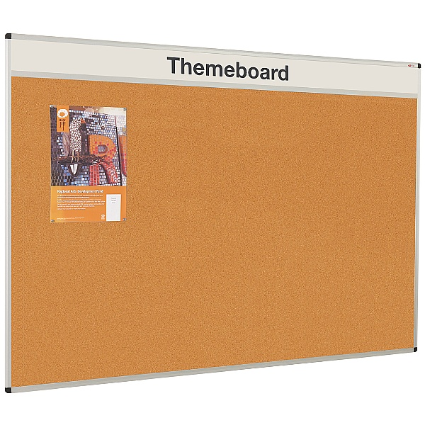 Themeboard Aluminium Framed Cork Noticeboard