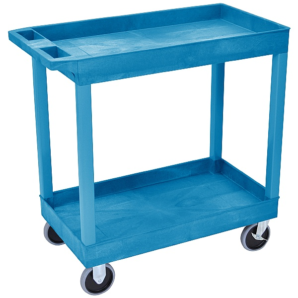 Heavy Duty Multi Purpose 2 Shelf Plastic Trolleys