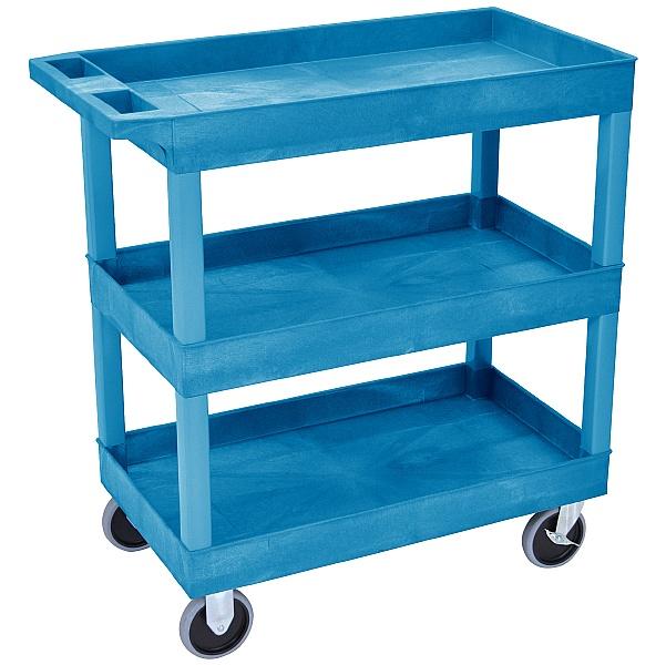 Heavy Duty Multi Purpose 3 Shelf Plastic Trolleys