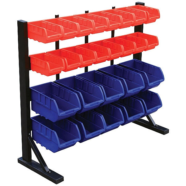 Freestanding Storage Bin Racks