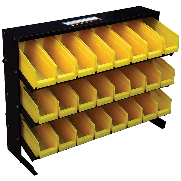 24 Bin Freestanding Storage Rack