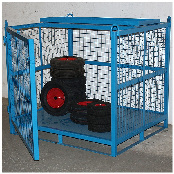 Craning Cage With Gated Front & Security Roof